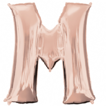 "Rose Gold Letter M Balloon - Rose Gold Letter Balloon (34"")"